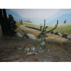 10189 Skulptur Figur Hirsch Bronze 1,26 m