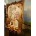 10477 Gemälde Wandbild mit Barockrahmen 0,97 m x 1,28 m