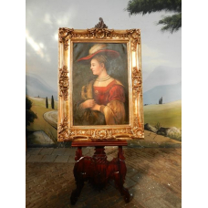 10479 Gemälde Wandbild mit Barockrahmen 0,90 m x 1,20 m