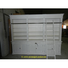 11252 Bibliotheksschrank Bücherschrank Teakholz 3,10 m