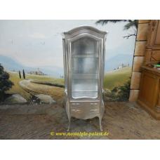 Vitrine Barockstil Silber 0,82 m
