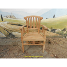 11928 Chair teak with armrests