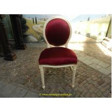 11950A Stuhl Rot-Creme Barockstil