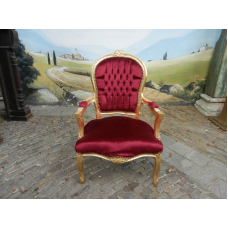 11956A Baroque style chair dark red