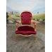 11956A Stuhl Rot-Gold Barockstil
