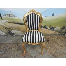 11958A Stuhl Schwarz-Weiß Barockstil