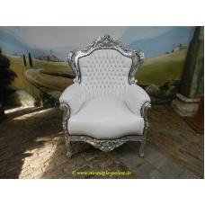 11960A Barocksessel Weiß