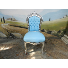 11962A Baroque style chair - light blue