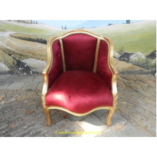 11964A Baroque armchair - dark red