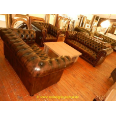 12219 Chesterfield Couchgarnitur 3-2