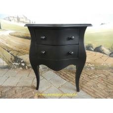 12317 Commode Barock Style - Black 0.75 m