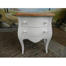 12397E Baroque style chest of drawers - white 0.73 m