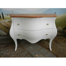 12399 Baroque style chest of drawers - white 1.18 m