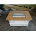 12407 Couchtisch Weiß - Glaseinlage 1,10 m x 0,70 m