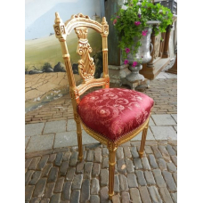 12449 Chair Gold / Red