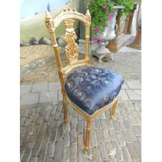 12452 Stuhl Gold - Blau