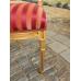 12453 Stuhl Gold - Rot gestreift