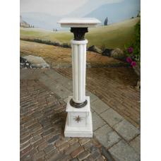 12460E Marble pillar - White 1.00 m