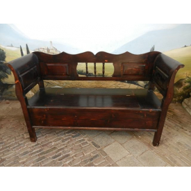 12530A Chest Bench Antique look - Colonial 1.50 m