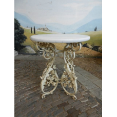 12555 Garden table - Vintage white Ø 0.70 m