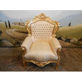 12679 Baroque Royal Armchair - Gold