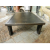 12754 VAN THIEL & CO. Couchtisch Eisen Stahl 1,30 m x 0,80 m