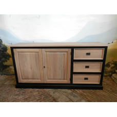 12795CA Sideboard Country Style - Black 1.89 m