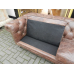 12838aE Chesterfield Sofa Couch Leder Braun 2,25 m