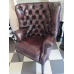 13600E Chesterfield Sessel Braun