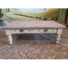 13638C Couchtisch Old France Teakholz 1,30 m x 0,75 m