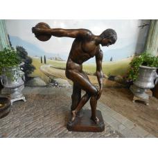13691E Skulptur Diskobolus Bronze 1,60 m