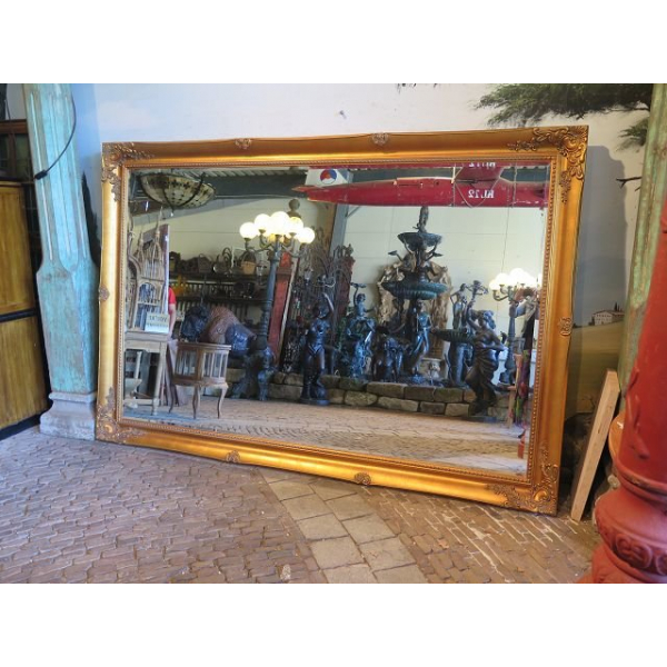 13706 Spiegel Wandspiegel Barock Gold 2,80 m x 1,90 m
