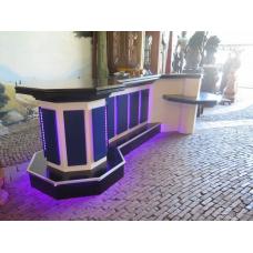 13734 Bar with light strip - Hardwood 3.50 m