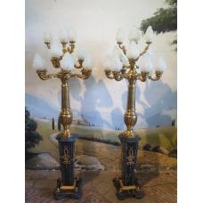 13973 Stehlampe Marmor Bronze 2,20 m