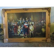 13974E Painting Rembrandt Night Watch 2.16 m x 1.57 m