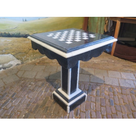 13987 Playtable marble black and white 0,46 m