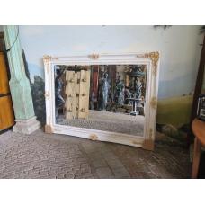 13990 Spiegel Wandspiegel Weiß-Gold 2,16 m x 1,57 m