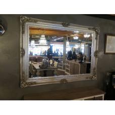13991E Spiegel Wandspiegel Silber 2,16 m x 1,57 m