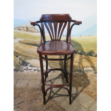14044 Barstool with backrest - Walnut