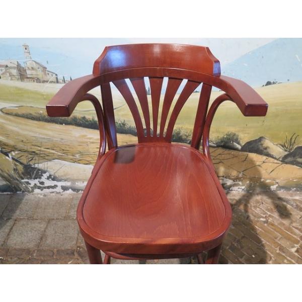14046 barhocker mit r ckenlehne kirschbaum. Black Bedroom Furniture Sets. Home Design Ideas