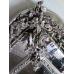 14177 Spiegel Wandspiegel Silber 1,04 m x 1,62 m