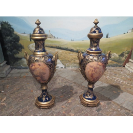 14190 Vases Set Dark Blue / Gold Ø 0.45 m