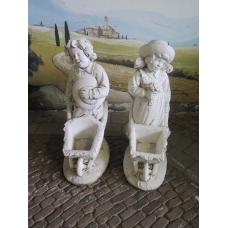14345 Decoration Concrete Set Boy & Girl