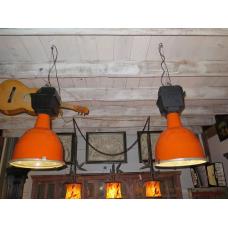 14353 Lampe Industrielampe Orange 1970