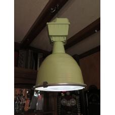 14355 Lampe Industrielampe Grün 1970