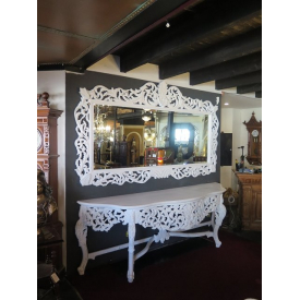 14358 Mirror with console table - White 2.65 m