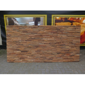 14434E Panels Wallcovering Teak 2.40 m