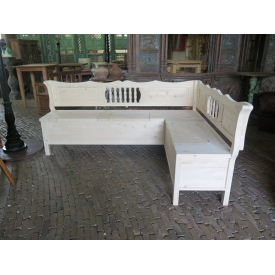 14502 Corner bench - Solid wood 2.13 m x 1.63 m