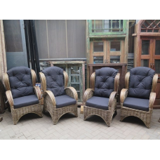14536 Armchair rattan nature