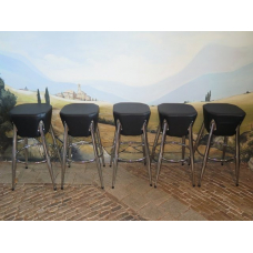 14854 Barstool Black PU leather